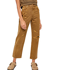 Free People Dakota Straight Leg High Rise Jeans