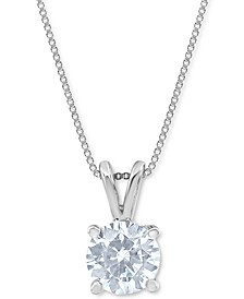 Macy's Star Signature Certified Diamond Solitaire Pendant Necklace (1-3/4 ct. t.w.) in 14k White Gold