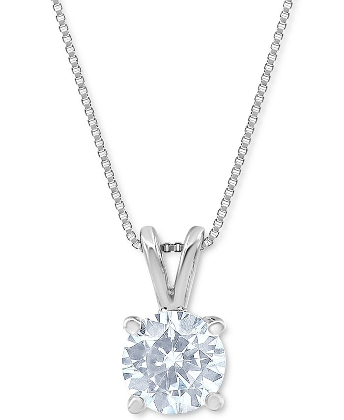 Macy's Star Signature Diamond - Certified Diamond Solitaire Pendant Necklace (1-3/4 ct. t.w.) in 14k White Gold