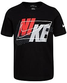 Little Boys Cotton Split-Block-Logo-Print T-Shirt