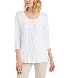 Sequined Scoop-Neck Top, Created for Macy's