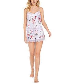 INC Women's Cami Tank & Shorts Pajama Set, Created for Macy's