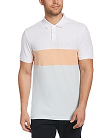 Men's Colorblocked Piqué Polo Shirt