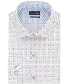 Men's Air + Slim-Fit Non-Iron Performance Stretch Geo-Print Dress Shirt