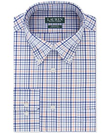 Men's Heritage Classic/Regular-Fit Non-Iron UltraFlex Performance Stretch Blue Check Dress Shirt