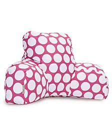 "Large Polka Dot Comfortable Soft Reading Pillow 33"" x 18"""