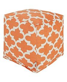 """Trellis Ottoman Pouf Cube 17"""" x 17"""""""