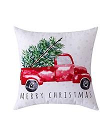 "Christmas Truck Decorative Pillow, 20"" x 20"""