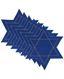 Star of David Embroidered Placemat, Set of 6