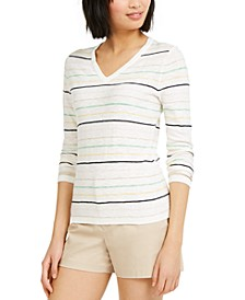 Multi-Stripe Cotton Sweater