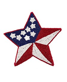 Beaded Flag Star Trivet