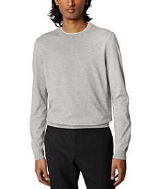 BOSS Men's Fabello Open Grey Sweater