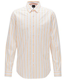 BOSS Men's Lukas_F Bright Orange Shirt