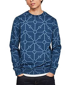 Men's Geometric Print Sweatshirt, Created for Macy's