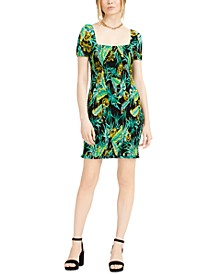 Printed Square-Neck Dress, Created for Macy's