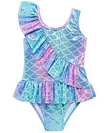 Toddler Girls 1-Pc. Mermaid Ruffle Swimsuit