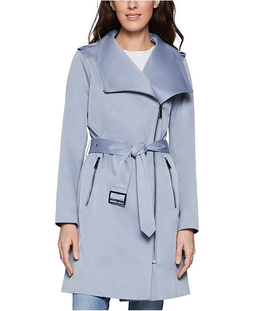 BCBGeneration Belted Chambray Trench Coat