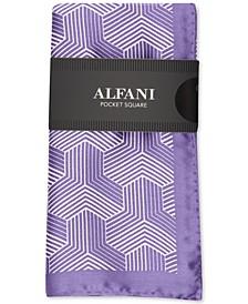 Men's Heather Geometric Silk Pocket Square, Created for Macy's