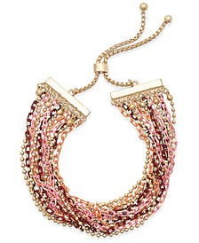 Multi-tone Twisted Strand Bolo Bracelet, Created for Macy's