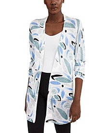 Printed Open-Stitch Cardigan, Created for Macy's