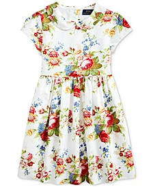 Toddler Girls Cotton Oxford Dress