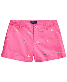 Big Girls Espadrille Cotton Chino Shorts