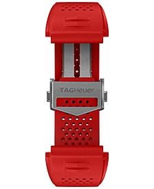 Men's Connected Interchangeable Red Rubber Strap Watch 45mm