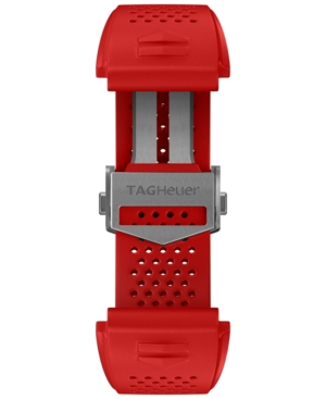 Tag-Heuer-Mens-Connected-Interchangeable-Red-Rubber-Strap-Watch-45mm