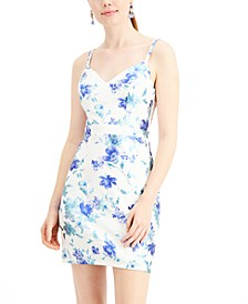 Juniors' Floral Bodycon Dress
