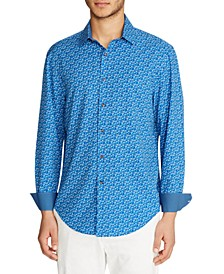 Men's Slim Fit Floral 4-Way Stretch Long Sleeve Shirt