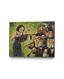 """Aaron Jasinski Catstra Museum Mounted Canvas 25"""" x 20"""""""