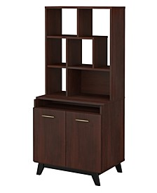 Centura 2 Door Accent Storage Cabinet with Bookcase Hutch