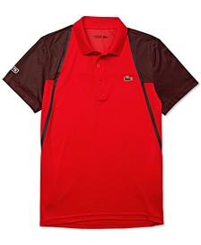 Men's Sport Short Sleeve Colorblock Polo Shirt