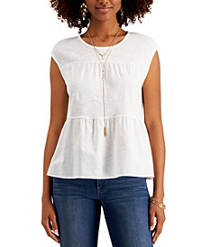 Cotton Tiered Tank Top, Created for Macy's