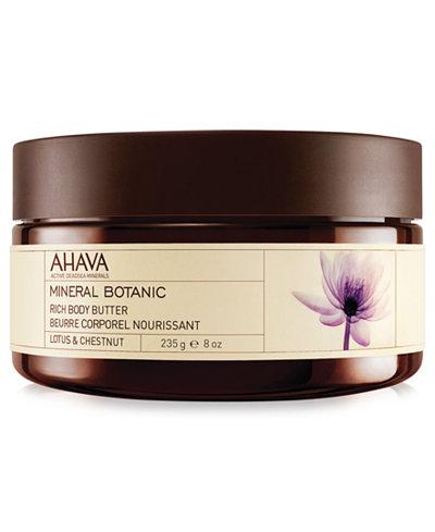 Ahava Lotus & Chestnut Mineral Botanic Rich Body Butter, 8 oz
