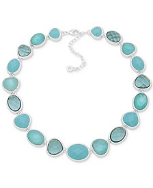 """Silver-Tone Stone All-Around Statement Necklace, 16"""" + 3"""" extender"""