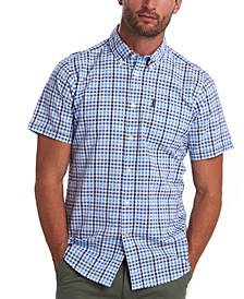 Men's Gingham Check Seersucker Shirt