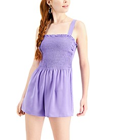 Juniors' Smocked Romper