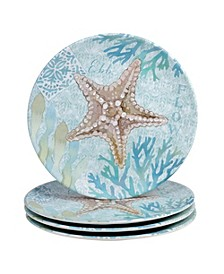 Beachcomber 4-Pc. Salad Plates