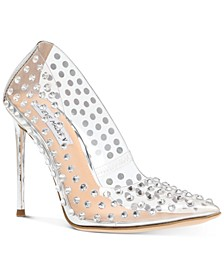 Women's Valiant-S Rhinestone Vinyl Pumps