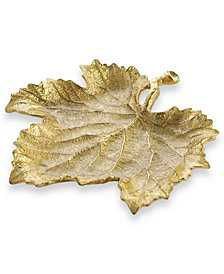 Michael Aram Gold Grape Leaf Snack Plate