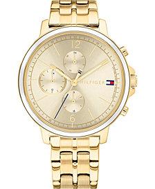 Tommy Hilfiger Women's Gold-Tone Stainless Steel Bracelet Watch 38mm