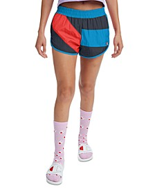 Women's Colorblocked Crinkle Shorts