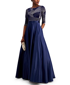 Petite 3/4-Sleeve Gown