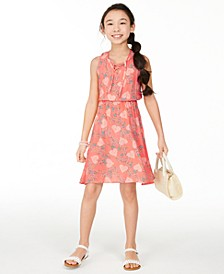 Big Girls Lace-Up Dress, Created for Macy's