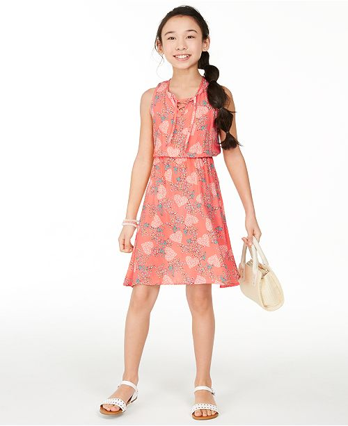 Epic Threads Big Girls Lace-Up Dress, Created for Macy's
