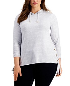 Plus Size Side-Laced Hoodie
