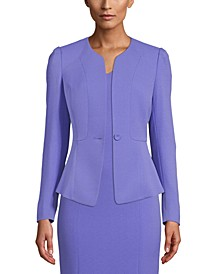 One-Button Peplum Jacket
