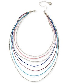 """Multi-Chain Mixed Layer Statement Necklace, 14-20"""" + 3"""" extender"""