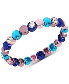 Multi-Tone Crystal Stretch Bracelet
